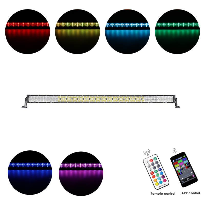Cross-2 Series 52 inch 300W RGB Straight Combo Beam LED Light Bar (RGB Cross-style DRL)