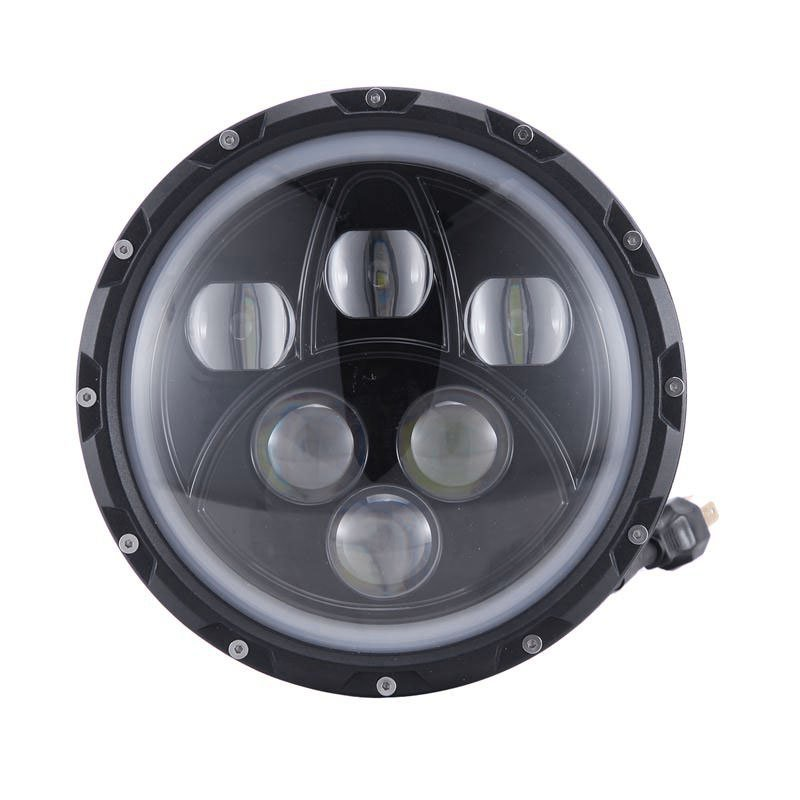 7 inch 60W Round Cree Projector LED Headlight with Halo Ring for Jeep Wrangler