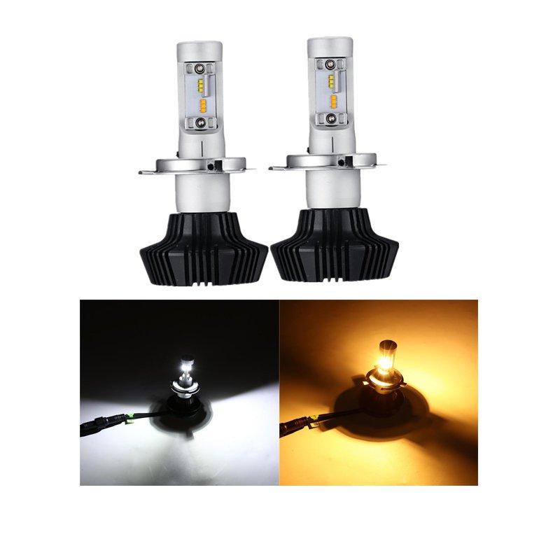 (2PCS/SET) B2 SERIES H4/9003/HB2 HI-LO BEAM BICOLOR LED HEADLIGHT CONVERSION BULB