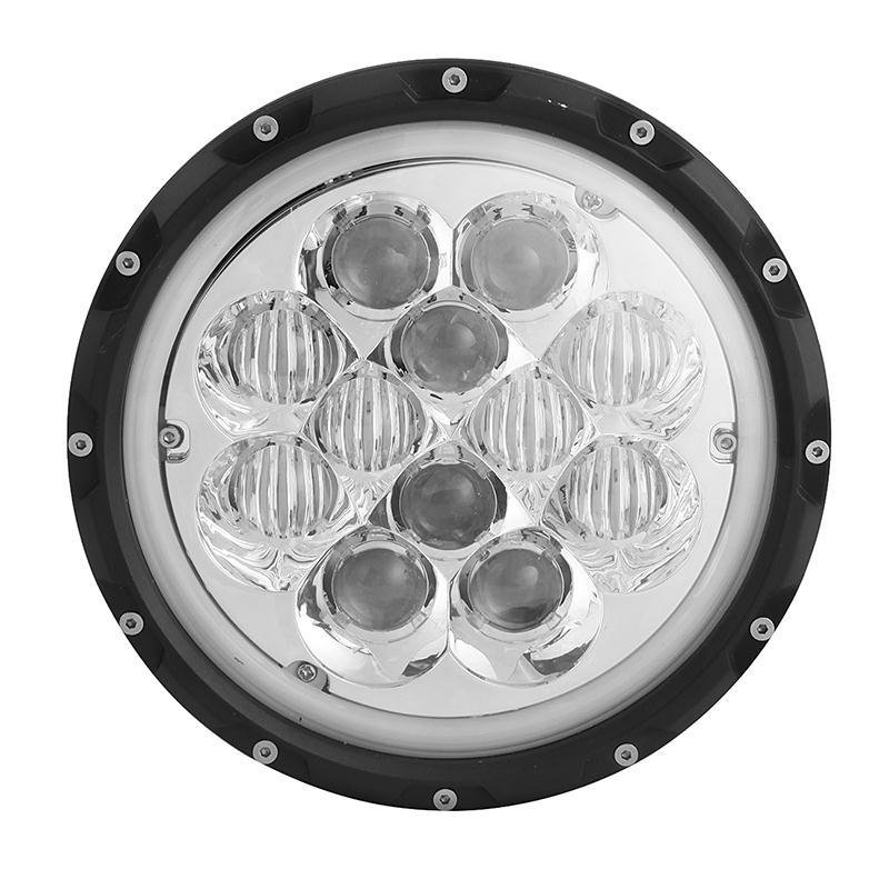 7 inch 60W Round Hi-Lo beam LED Headlight with Atmosphere Light for Jeep Wrangler