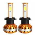 H7 60W 6400LM COB GOLDEN LED HEADLIGHT BULB CONVERSION KIT