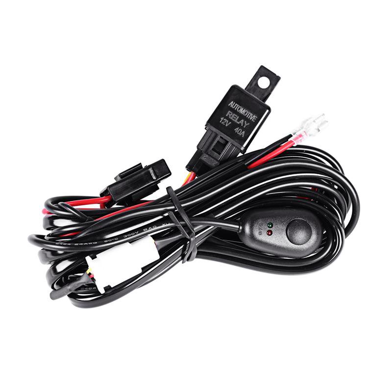 12V 40A HID/LED Light Bar Driving Light Wiring Harness Kit(For One Light)
