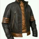 Leather slim fit jacket