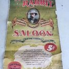 JACK DANIELS Vintage White Rabbit Saloon Banner  - Discontinued