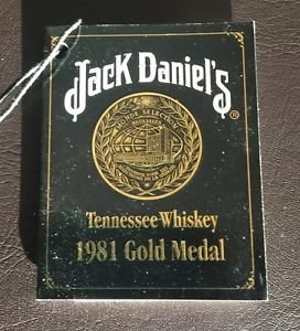 Jack Daniels Limited Edition Discontinued 1981 Gold Medal Gift Tag Registration