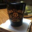JACK Daniels Discontinued Vintage Black Ceramic Gold Script Since 1866 ShotGlass