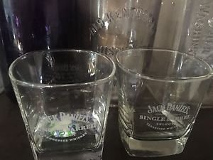 Jack Daniels Whiskey Single Barrel Select Toasters Glasses - Pair