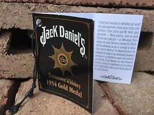 Jack Daniels Limited Edition Discontinued 1954 Gold Medal Tag - French Version