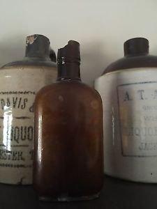 Jack Daniels Little Brown Mulberry Creek Half Pint Amber Bottle - Chipped