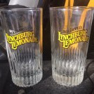 JACK DANIELS Vintage Lynchburg Lemonade Tall Thick Bottom Glasses - Pair
