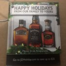 Jack Daniels Limited Edition Discontinued 2010 Happy Holidays Brand Family Tag