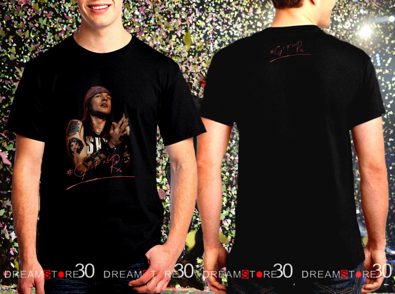 Guns N' Roses Rock Band World Tour 2017 Black Concert T Shirt Size S,M,L,XL,2XL,3XL Tee