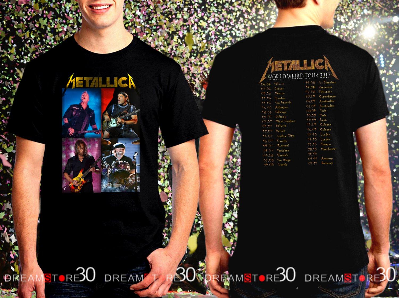 Metallica Rock Band World Weird Tour 2017 Black Concert T Shirt Size S,M,L,XL,2XL,3XL Tee