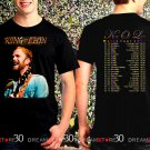 King Of Leon Rock Alternative Band World Tour 2017 Black Concert T Shirt Size S,M,L,XL,2XL,3XL Tee