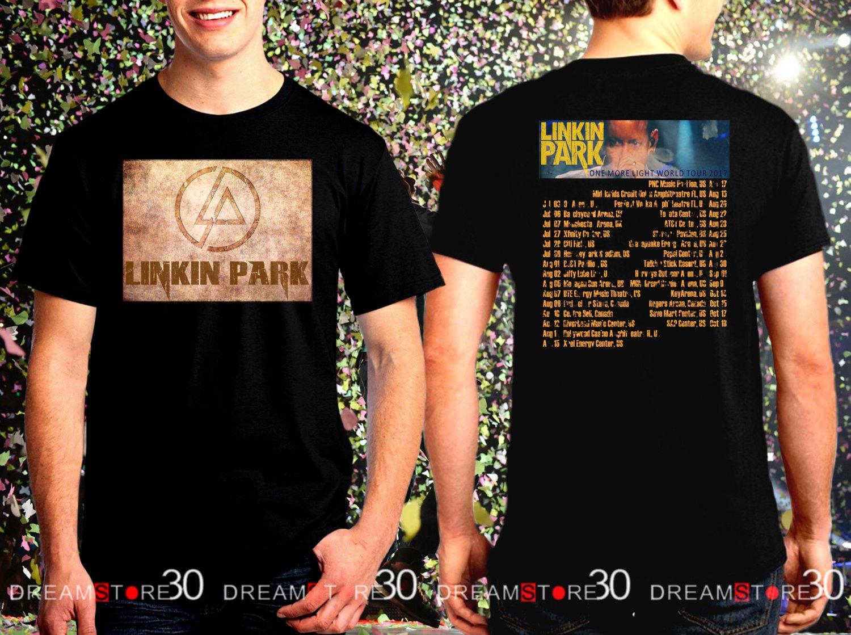 Linkin Park One More Light Tour Dates 2017 Black Concert T Shirt Size S to 3XL LP5