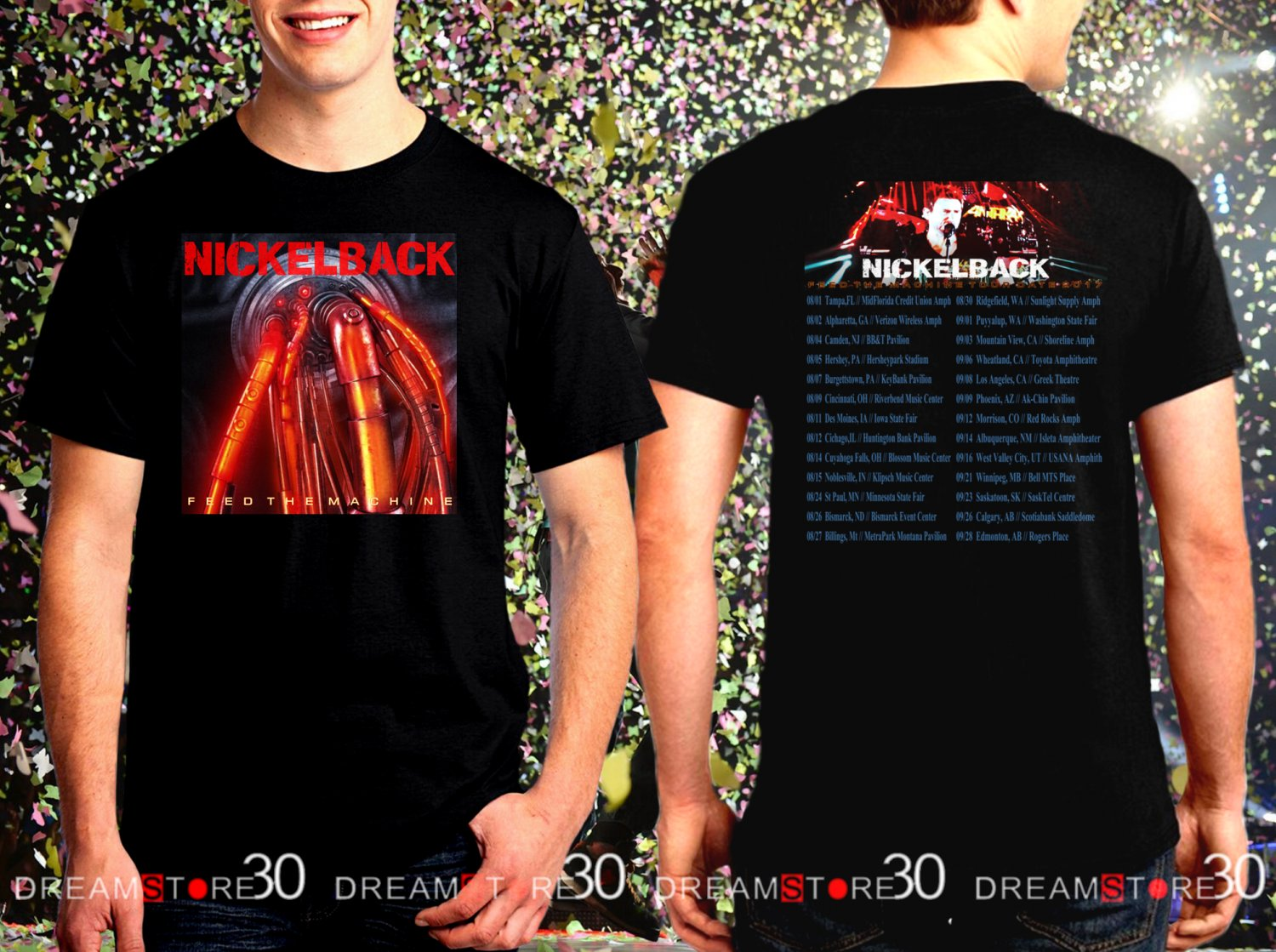 Nickelback Feed The Machinet Tour Dates 2017 Black Concert T Shirt Size S to 3XL NB2