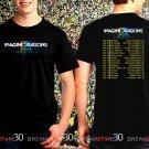 Imagine Dragons Tour 2017 Black Concert T Shirt Size S,M,L,XL,2XL,3XL Tee ID1