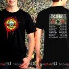 Guns N Roses World Tour 2017 Black Concert T Shirt Size S to 3XL Tee GNR1