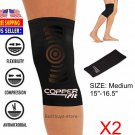2PACK-Copper Fit Infused Knee Compression Sleeve Brace size Medium