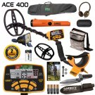 Garrett ACE 400 Metal Detector With WATER PROOF Coil And PREMIUM ACCESSORIES !