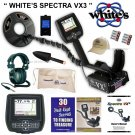 WHITES SPECTRA VX3 Metal Detector + FREE  HEADPHONES, POUCH, DIGGER & MORE !