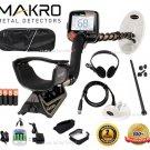 Makro Gold Racer Metal Detector Pro Package 2 Waterproof Coils & MORE !