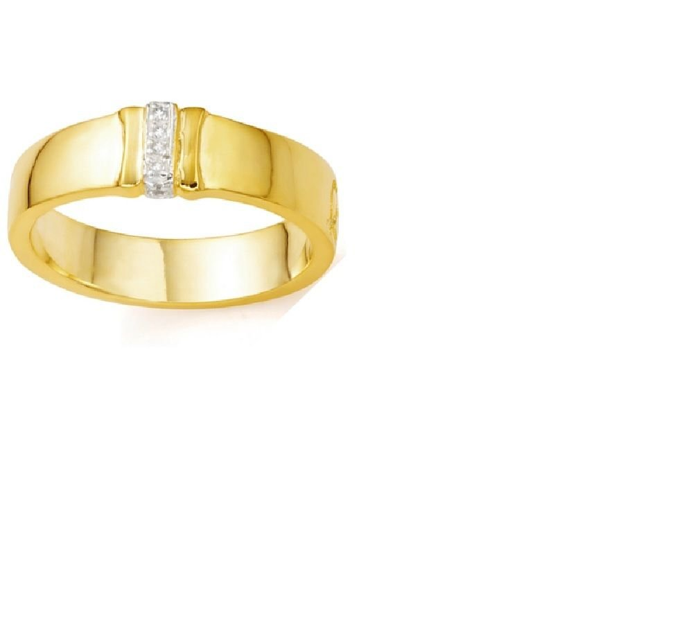 6 Round Diamonds/18k Yellow Gold/Sterling Silver/Size 7 Ring