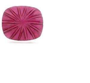 6 1/2 Carats Rasberry Red Pink Rubellite Fancy Cut Gemstone 10.5 x 12.5mm