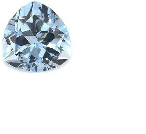 7 1/4 Carat Very Good Baby Swiss Blue Topaz Trillion Cut Gemstone 12 x 12mm