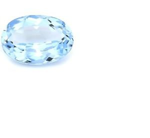 7 Carat Blue Topaz Excellent Sky Blue Oval Cut Gemstone 10.5 x 14mm