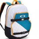 NWT Oakley Streetman Backpack White/Blue/Yellow Skate Pack 2.0 Laptop Bag NEW