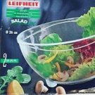 "Leifheit Salad Bowl/Yellow/Acrylic Glass/26cm/10 1/4"""