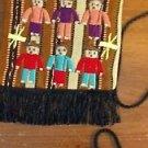 Guatamala Purse Bag Pocketbook Cross Shoulder Zipper Cotton Fringe Brown Stripe