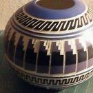"Navaho Pottery Bowl Handmade Native American 6"" Diameter 5"" High"