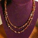 "Natural Genuine Garnet Chip Rope Necklace 34"" Single Strand"