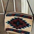 Southwestern Motif Handbag 100% Cotton Geometric Design Large Shoulder Strap