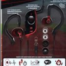 New Balance 2 in 1 Sport Earbuds/Earhooks/One Touch Heart Rate Monitor/Pedometer