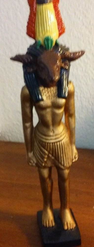 "Horus the Egyptian Horse God 10"" Handcrafted signed J B L"
