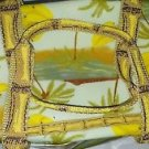 Collapsible Vintage Hawaiian Print Toiletry Accessory Fold Up Bag Cosmetic Tote