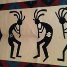 Kokopelli Woven 100% Cotton Tapestry Wall Hanging Table Cloth Western  2' x 3'
