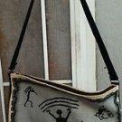 Southwestern Motif Handbag 100% Cotton Kokopelli Drawings Large Shoulder Strap