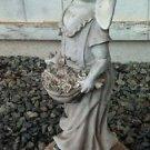 Lawn Ornament Woman Female Bunny Rabbit Gardener Sculpture Resin Statue Outdoor