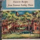 Vintage Ford Treasury of Favorite Recipes from Famous Eating Places 1950 Kennedy