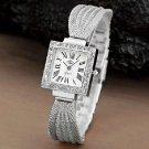 Swarovski Style Crystal Stainless Steel Ladies Bracelet USS Quartz Watch