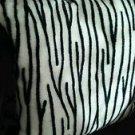 "Zebra Pillow Stuffed 13"" x 13"" White Black Acrylic Safety Tested For Children"