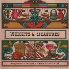 "Vintage Chart Poster Cookbook Weights & Measures Calories 1970 Hammond 24"" x 9"""