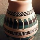 """Navaho Native American Pottery Pink Native Reflections 5"""" x 6"""" American Indian"""