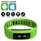 Green Smartband Wristband Bluetooth Intelligent IOS ANDROID