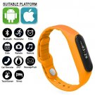 Orange Bluetooth Smart Watch Smartband Sports Bracelet Fitness Tracker