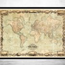 WONDERFUL OLD WORLD MAP 1847 MERCATOR PROJECTION - fine reproduction